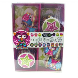 COwl Cupcake DecoratingSet - Click To Enlarge