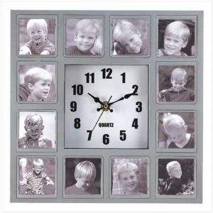 CPhoto Collage Wall Clock - Click To Enlarge
