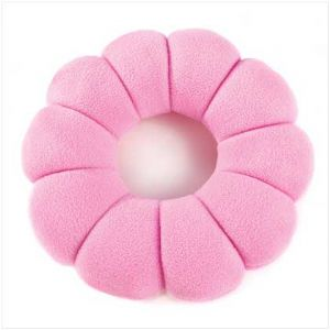 CPink Posy Travel Pillow - Click To Enlarge