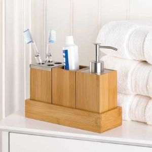 CKyoto Bamboo Bath Trio - Click To Enlarge