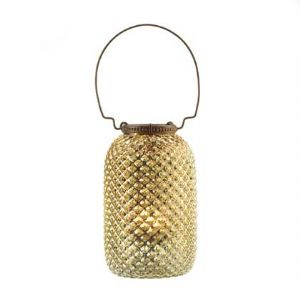 CLantern-TALL DIAMOND CANDLE -Gold - Click To Enlarge