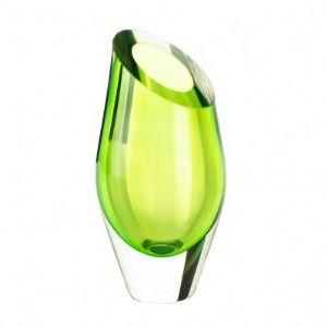 CGREEN CUT GLASS VASE - Click To Enlarge