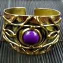Purple Jade Abstract Cuff bracelet