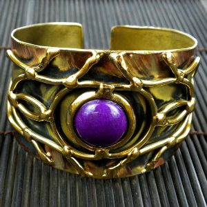 CPurple Jade Abstract Cuff bracelet - Click To Enlarge