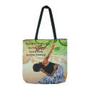 She Who Kneels - woven tote bag