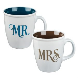 CMr and Mrs Collection Two Piece Coffee Mug Set - Click To Enlarge