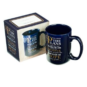 CFor I Know the Plans Coffee Mug - Jeremiah 29:11 - Click To Enlarge