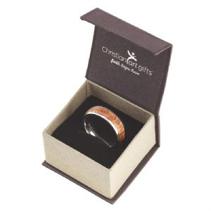 CMen's Ring - with Wood Accent: Righteous Man - Proverbs 20:7 - Click To Enlarge