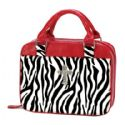 Bible Carrier - Zebra Print trimmed in Red