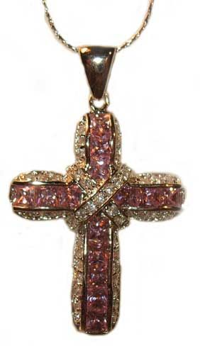 CSpecial-T Pink Jeweled Cross - Click To Enlarge